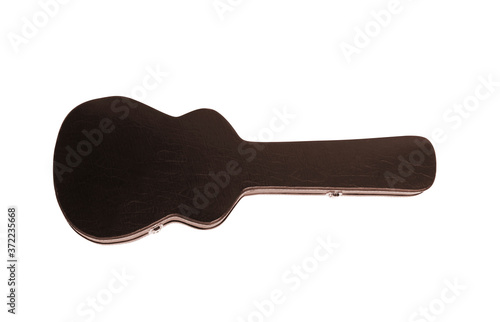 hard case for electric guitar, isolated on white Wallpaper Mural
