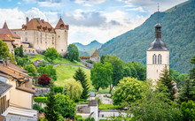 Panorama Of Gruyeres Medieval ...
