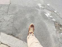 Man's Leg And Foot Captured Mi...