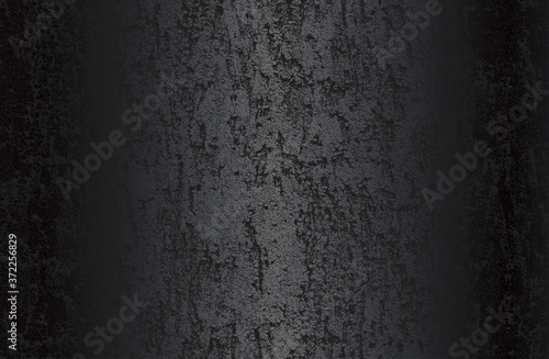 Luxury black metal gradient background with distressed cracked concrete texture Slika na platnu