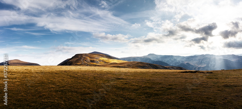 Mountain road landscape panorama Fototapeta