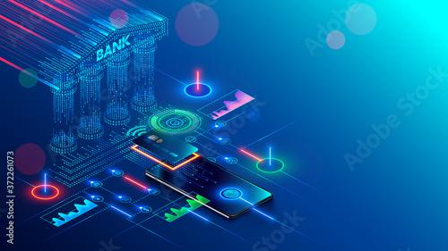Mobile bank conceptual illustration Fototapeta
