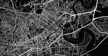 Vector Aerial City Road Map Of Ho Chi Minh, Vietnam