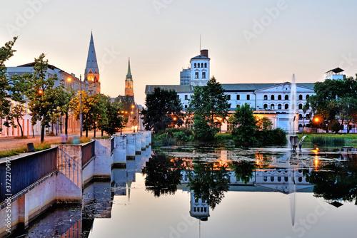 Fototapeta White Factory - the city of Lodz, Poland