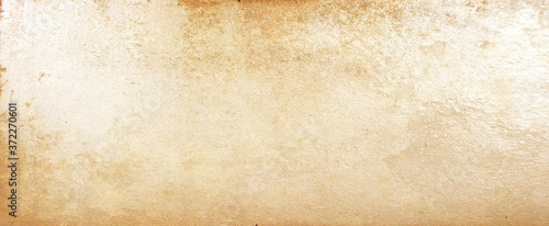 Old brown paper parchment background design with distressed vintage stains and i Fototapet