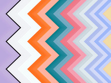 Multicolored Zigzag Background...