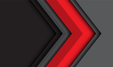 Abstract Red Grey Arrow Direct...