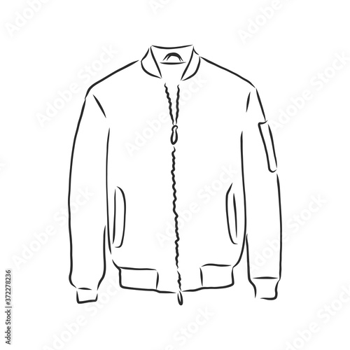 Fototapeta bomber sketch. bomber jacket, vector sketch illustration