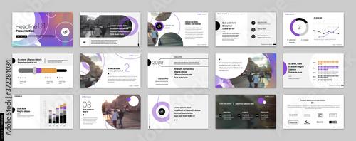 Canvastavla Geometric Purple Presentation Element Templates