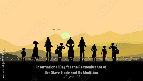 Vector Illustration of International Day for the Remembrance of the Slave Trade and Its Abolition Canvas Print