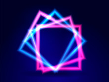 Neon Lighting Square. Abstract...
