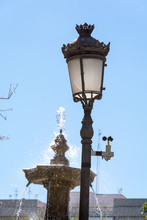 Lamppost Of A Park With An Ane...