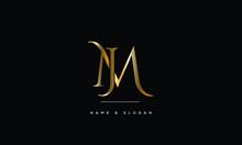 JM ,MJ,J,M Abstract Letters Logo Monogram