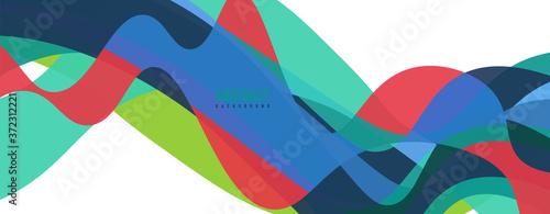 Fluid wave colorful abstract background Slika na platnu