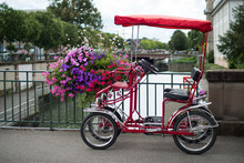 Closeup Of Red Quad Bicycle Fo...