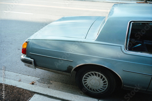 Vintage car shot on Film