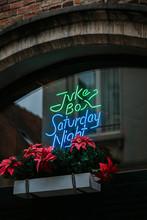 Juke Box Neon On Belgian Bar
