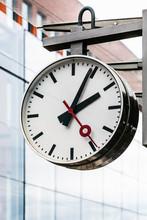 Round Clock In Bruges Train Station