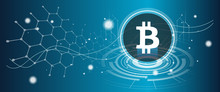Bitcoin Symbol With Crypto Cur...