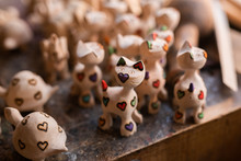 Handmade Wooden Souvenirs In Traditional Workshop