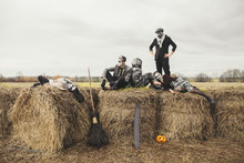 Halloween Party On The Haystack