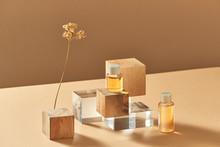 Set Of Cosmetic Oils Bottles