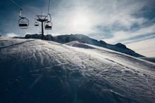 Ski Lift Over Empty Slopes