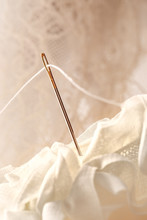 Sewing Needle And Thread With Lace