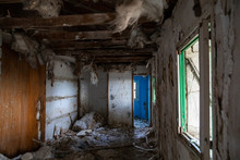 Grungy Corridor Of Abandoned House