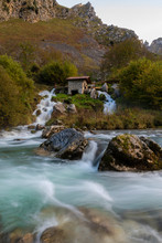 Mill, Waterfall And River