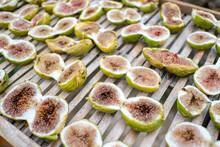 Traditional Dried Italian Figs On Sun Light,healthy Food,dry Fruit,cilento