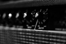 Musician: Close Up On Amplifier Knobs