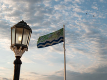 Cumberland County Flag During Golden Hour