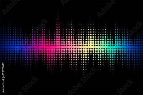 Sound wave design. Modern musical background with dynamic lines Fototapet