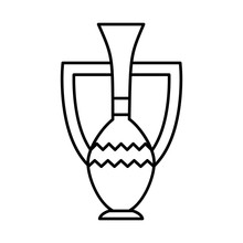 Egyptian Vase Icon, Line Style