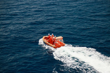 A Lifeboat Or Life Raft Carried For Emergency Evacuation In The Event Of A Disaster Aboard A Ship. Lifeboat Is Safety Equipment In Marine Industry And Offshore Industry Also For Emergency Case In Sea.