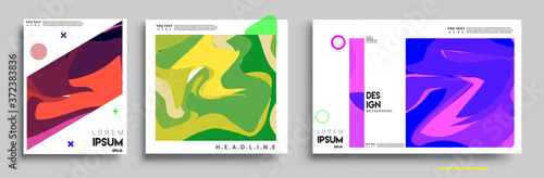 Fotografia, Obraz Modern abstract covers sets