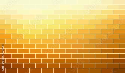 Brickwork yellow bright new wall textured background Canvas Print