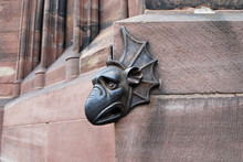 Gargoyle Head Of Strasbourg Cathedral, France, Europe
