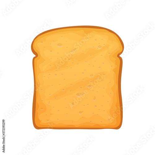 Loaf of roasted crouton isolated slice of white bread Fototapet