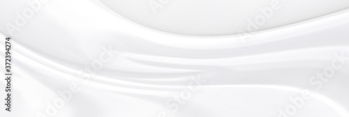 Canvastavla White gray satin texture that is white silver fabric silk panorama background with beautiful soft blur pattern natural