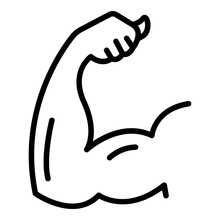 Arm Biceps Icon. Outline Arm B...