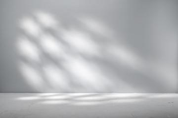 Gray background for product presentation with beautiful light pattern