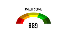 Credit Score Concept On The Sc...