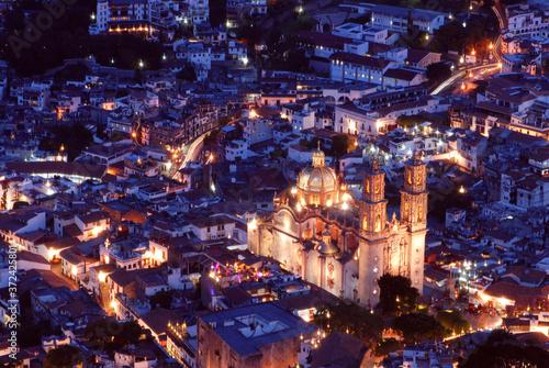 Fototapeta Taxco iglesia santa Prisca obraz na płótnie