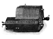 Ordner's Adding Machine In The Old Book Encyclopedia By I.E. Andrievsky, Vol. 2, S. Petersburg, 1890