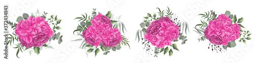 Floral elements for wedding design Fotobehang
