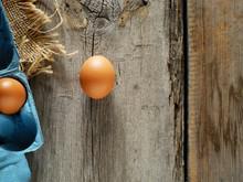 Eggs On Wooden Table, World Eg...