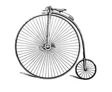 Vintage Two-wheeled Bicycle In...