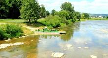 Rzeka, Most, Prom, Natura, Przyroda, Krajobraz, Figura, Kapliczka, Kładka, San, Rzeka, Potok, Kamienie, Martwa, Natura, Przeprawa,
